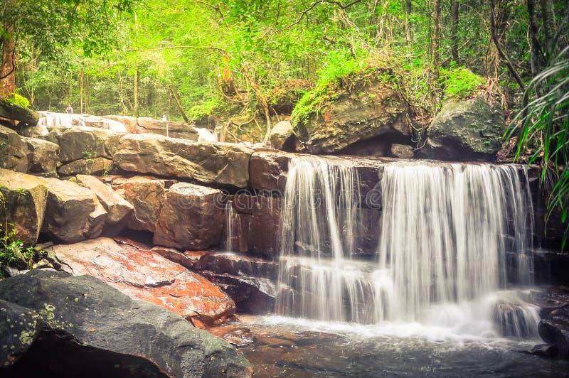 Bella cascata di Suoi Tranh in Phu Quoc, Vietnam fotografia stock libera da diritti