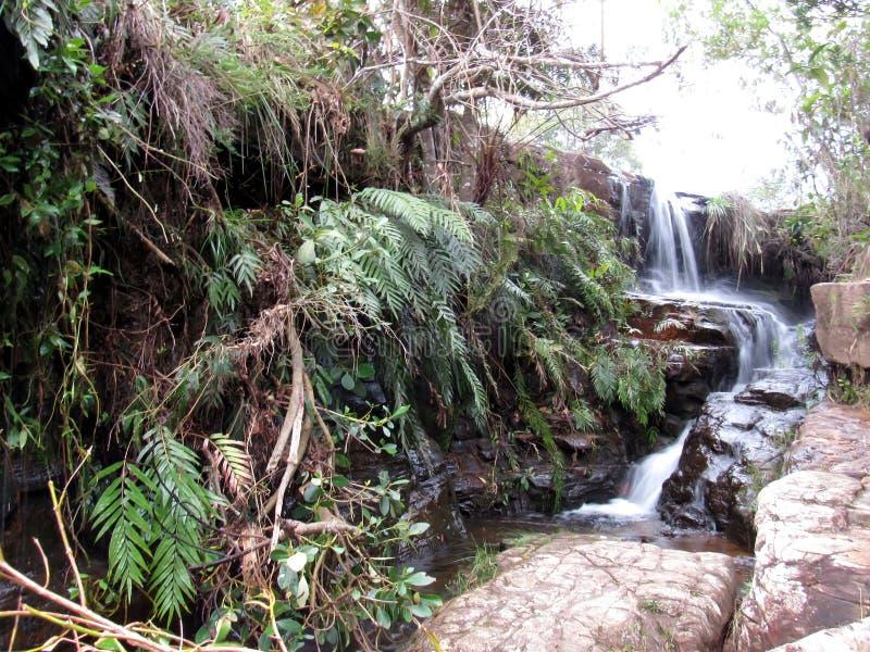 Bella cascata in mg di Carrancas fotografia stock