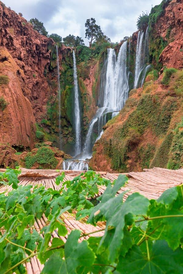 Bella cascata in Ouzoud, Azilal, Marocco Grande atlante immagini stock
