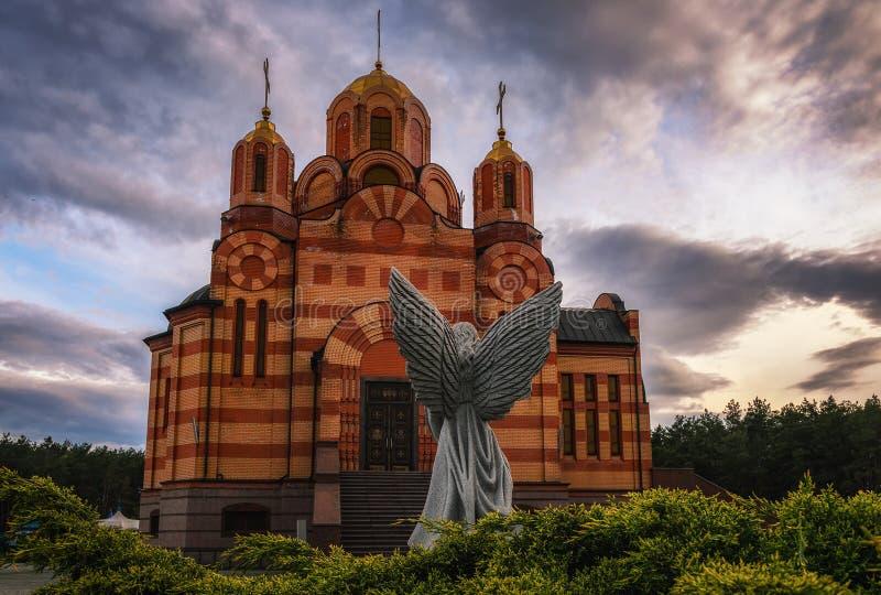 Bella chiesa cristiana Tempio della madre di Dio immagine stock