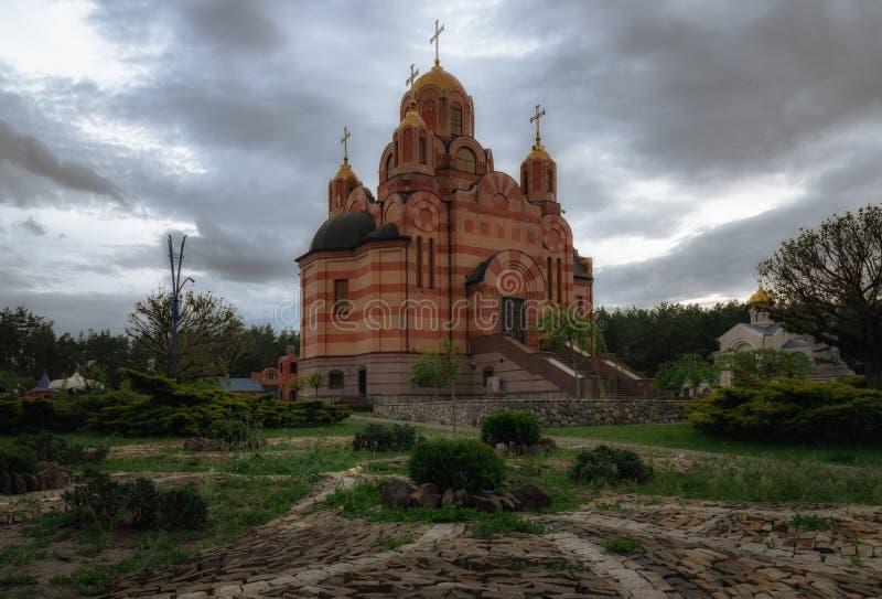 Bella chiesa cristiana Tempio della madre di Dio fotografie stock libere da diritti