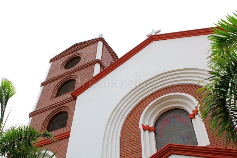 bella chiesa nel centro urbano di Santa Cruz de la Sierra, Bolivia fotografie stock