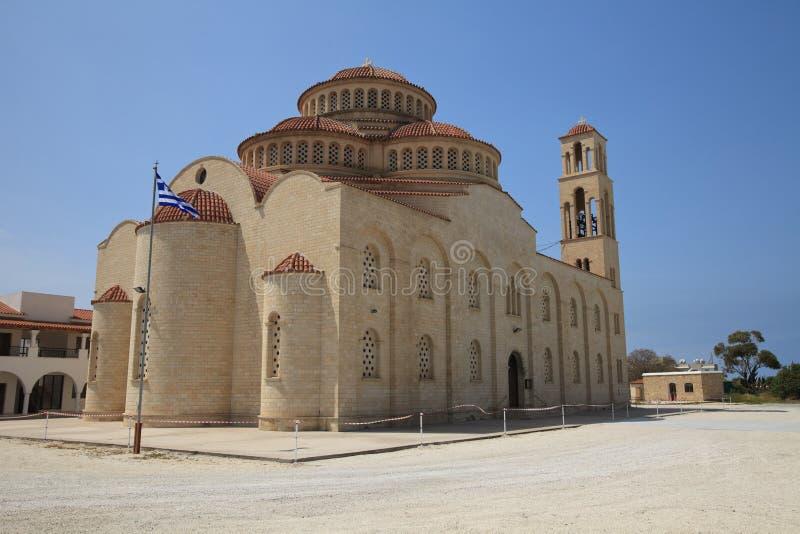 Bella chiesa Pafo di Agioi Anargyroi cyprus fotografie stock libere da diritti