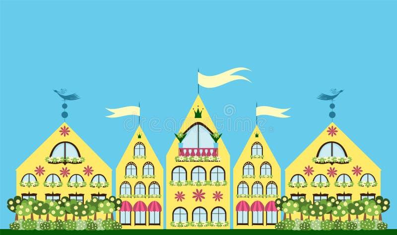 Bella città illustrazione vettoriale