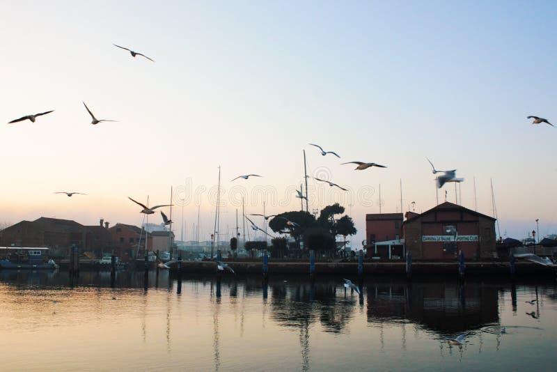 Bella città di Chioggia in Veneto, anche scoprire come piccola Venezia immagine stock