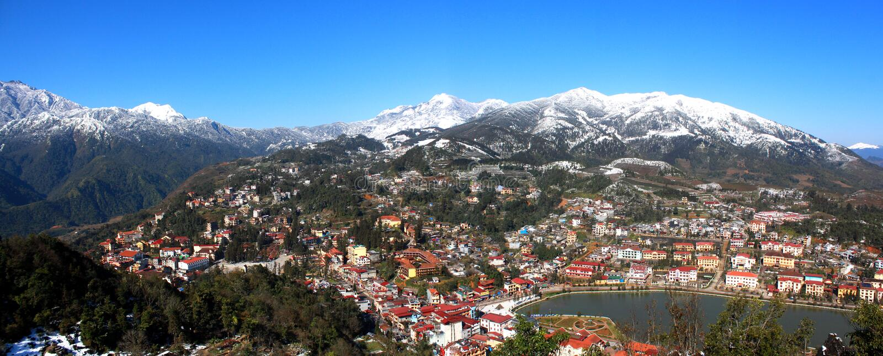 Bella città di Sapa immagine stock