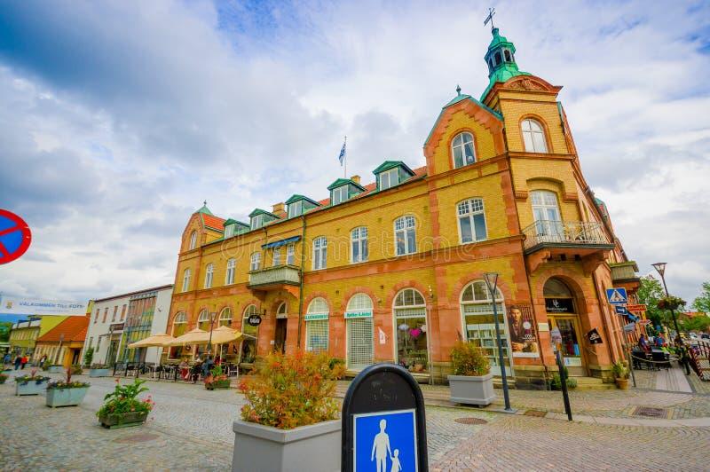 Bella città di Simrishamn, Svezia immagine stock libera da diritti