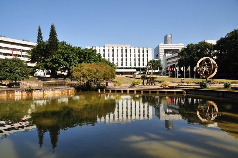 Bella città universitaria dell'università di Shenzhen fotografia stock