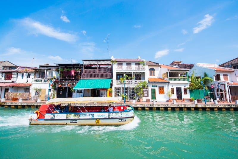 Bella comunità di lungomare nella città di Melaka immagini stock