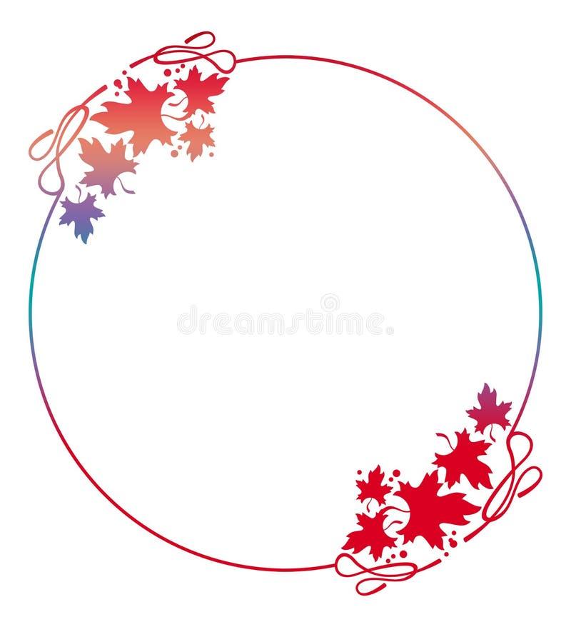 Bella cornice rotonda riempita di pendenza Copi lo spazio Clipart del quadro televisivo illustrazione vettoriale
