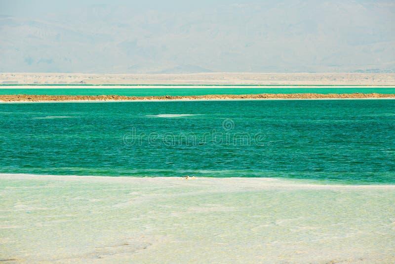 Bella costa del mar Morto immagine stock