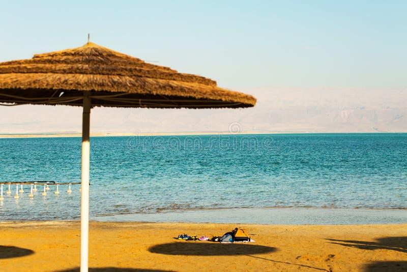 Bella costa del mar Morto fotografia stock