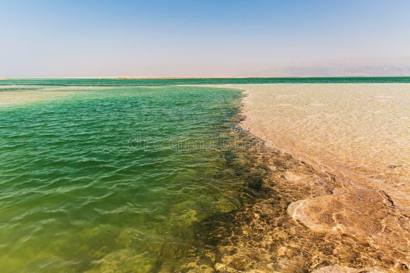 Bella costa del mar Morto immagini stock