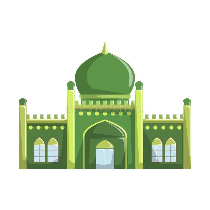Bella costruzione della moschea, illustrazione di vettore, religione islamica illustrazione vettoriale