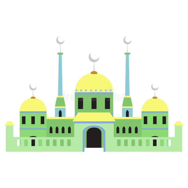 Bella costruzione v3 03 della moschea illustrazione vettoriale