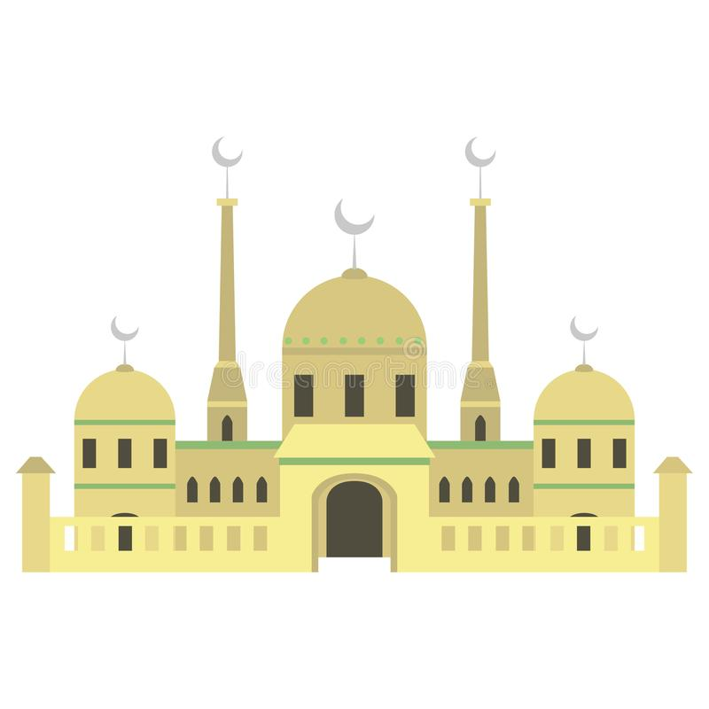 Bella costruzione v3 01 della moschea illustrazione di stock