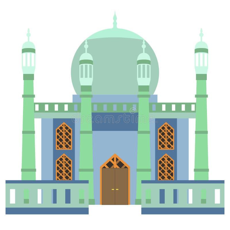Bella costruzione v4 02 della moschea illustrazione vettoriale