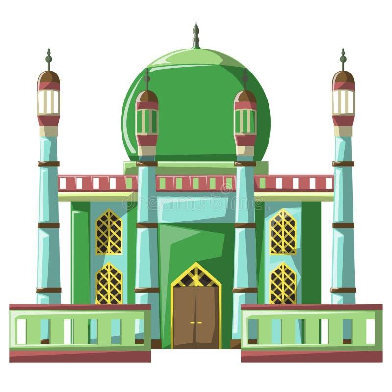 Bella costruzione v4 05 della moschea illustrazione vettoriale