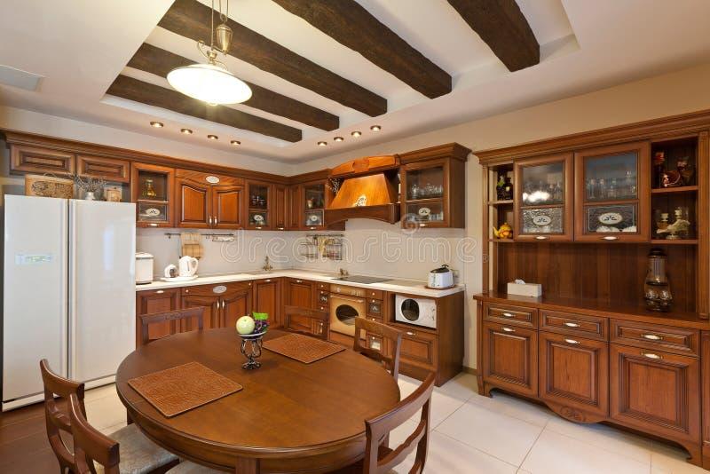 Bella cucina moderna fotografie stock