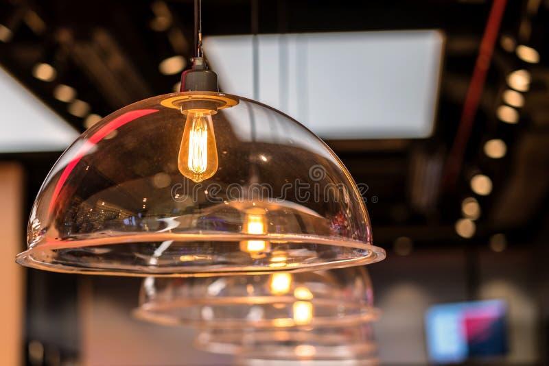 Bella decorazione d'annata di illuminazione per gli interni di costruzione fotografia stock libera da diritti