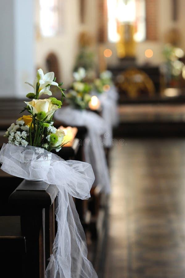 Bella decorazione di cerimonia nuziale del fiore immagine stock libera da diritti