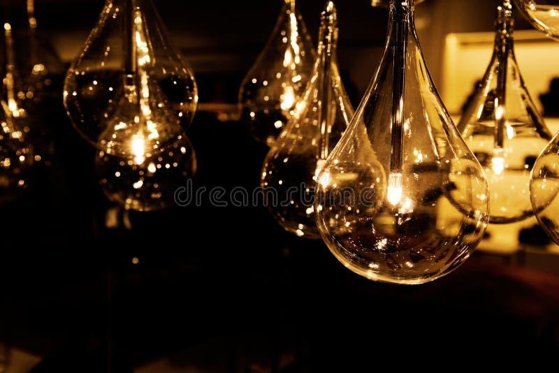 Bella decorazione di lusso dell'interno della lampada di illuminazione fotografie stock