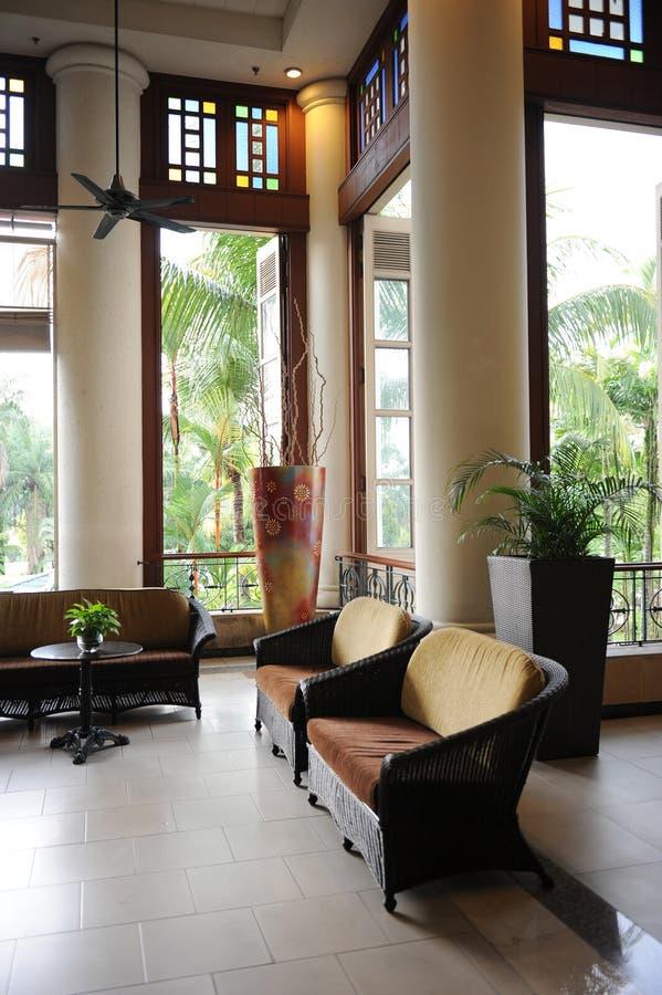 Un ingresso dell'albergo di lusso immagine stock libera da diritti