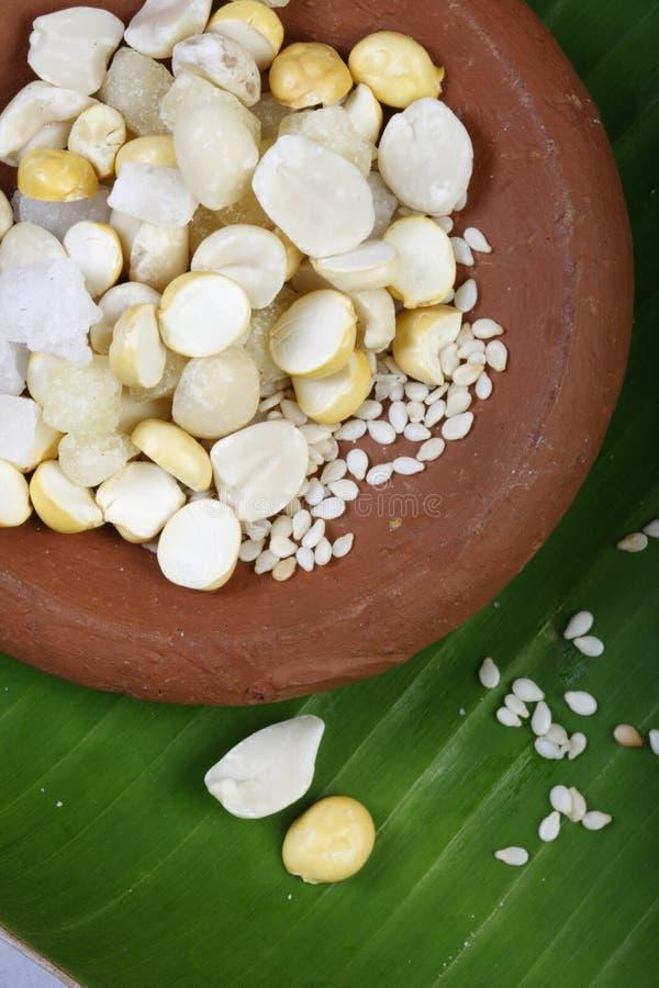 Bella di Ellu - sesamo e sagù dall'India del sud immagini stock