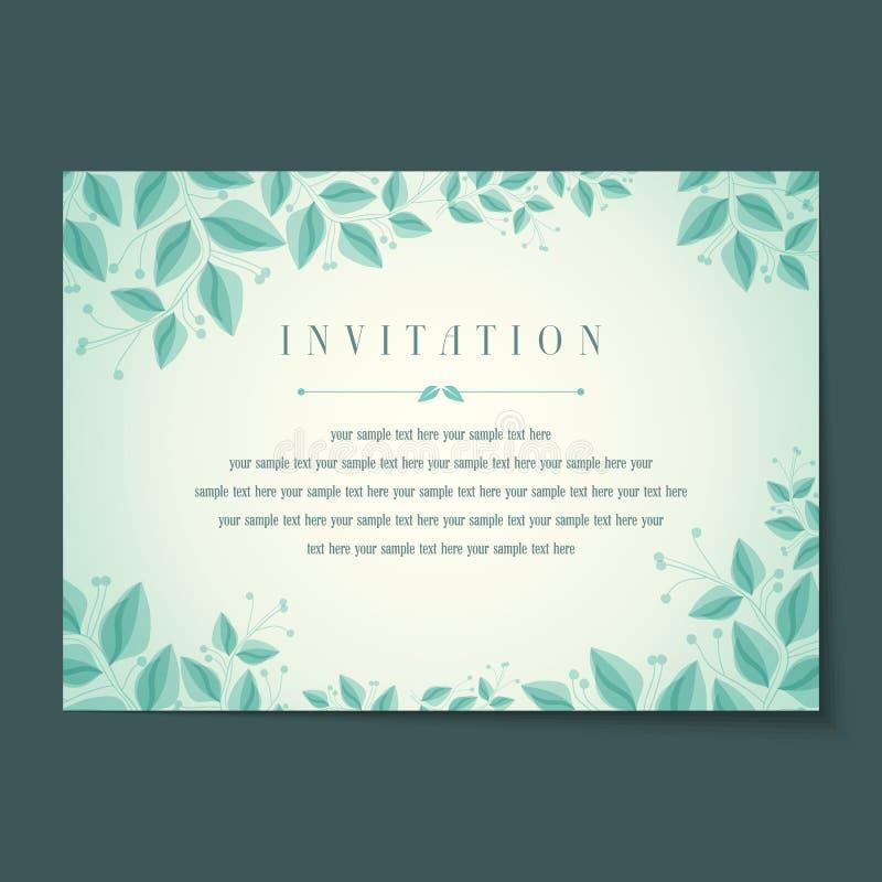Bella disposizione di carte d'annata dell'invito illustrazione vettoriale
