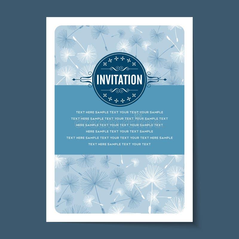 Bella disposizione di carte d'annata dell'invito illustrazione di stock