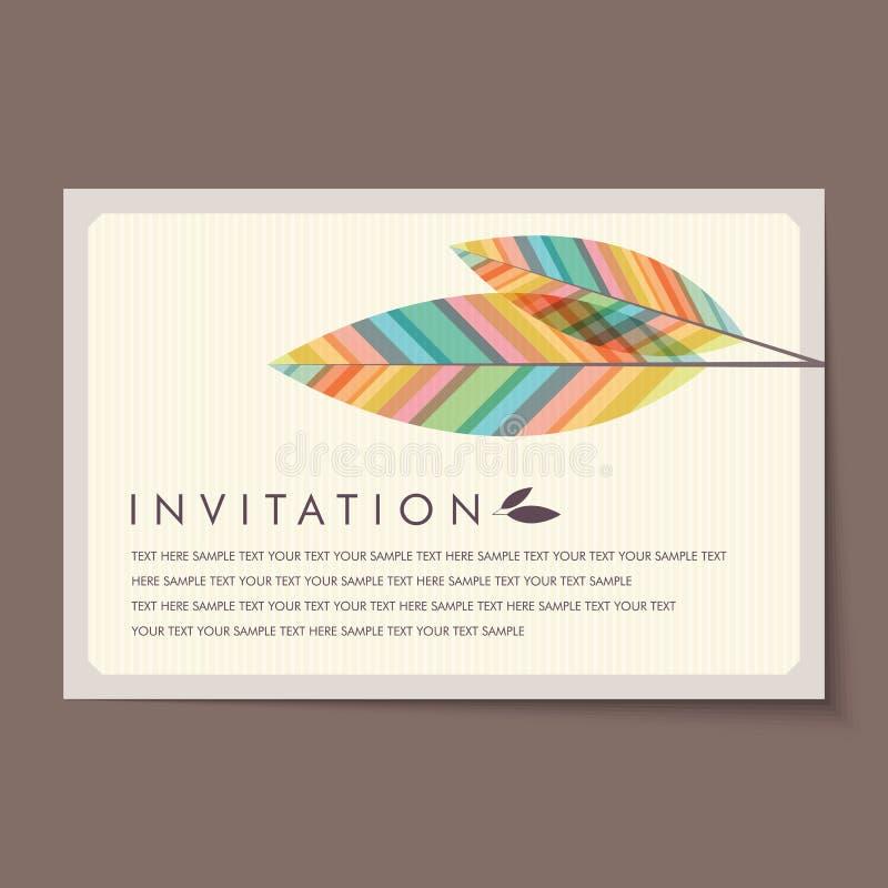 Bella disposizione di carte d'annata dell'invito royalty illustrazione gratis