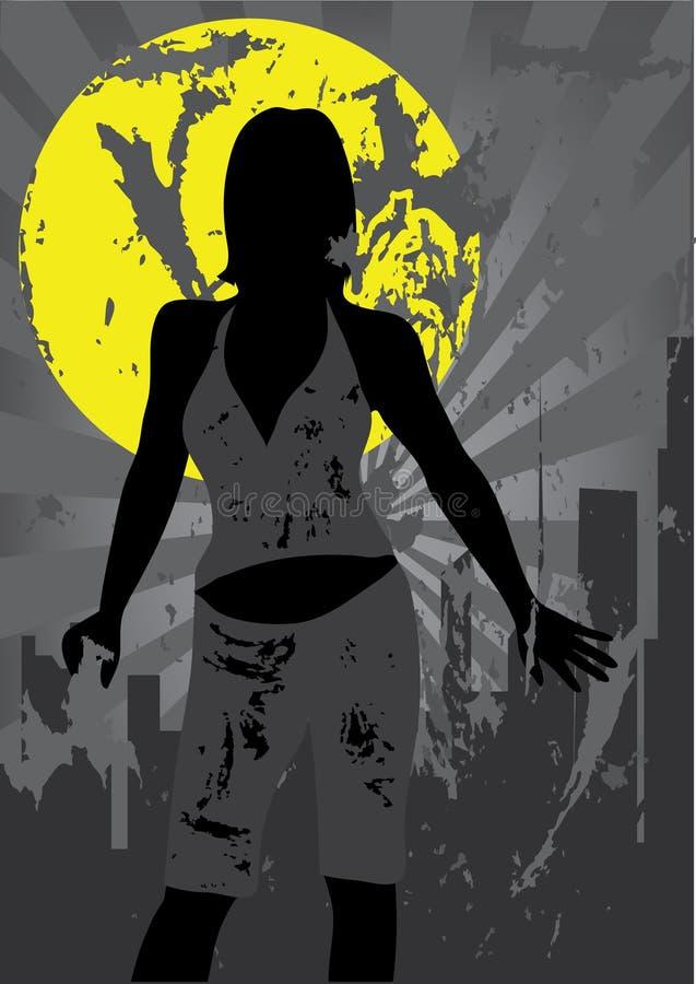 Download Bella donna illustrazione vettoriale. Illustrazione di attraente - 7321163