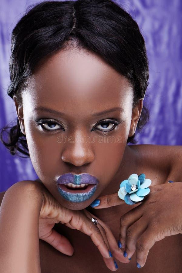 Bella donna africana fotografia stock
