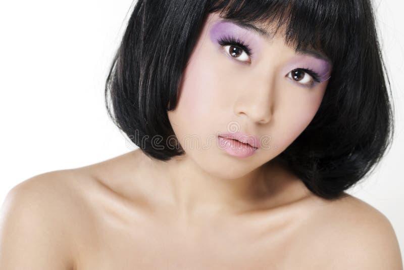 Bella donna asiatica immagine stock