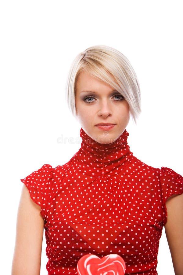 Bella donna bionda elegante in un agrostide bianco fotografie stock libere da diritti