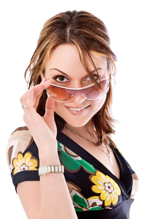 Bella donna con gli occhiali da sole fotografie stock libere da diritti