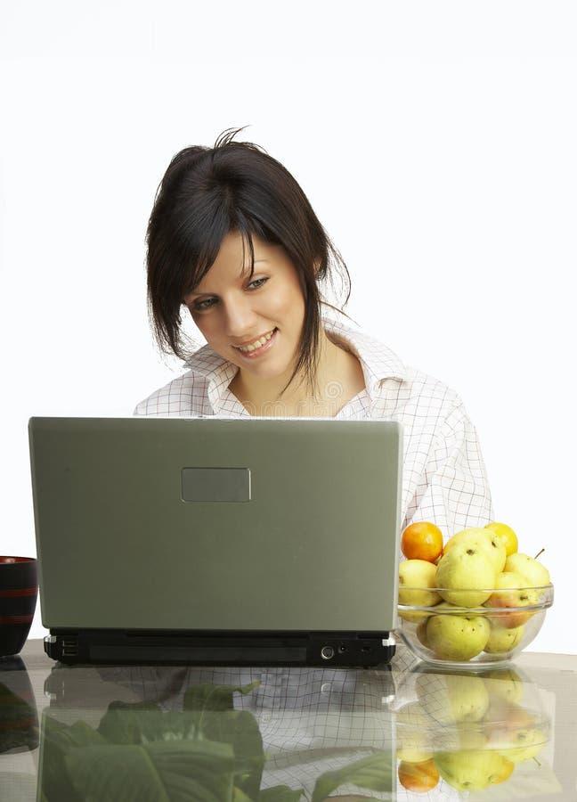 Download Bella Donna Con Il Computer Portatile Immagine Stock - Immagine di finanza, internet: 3884121