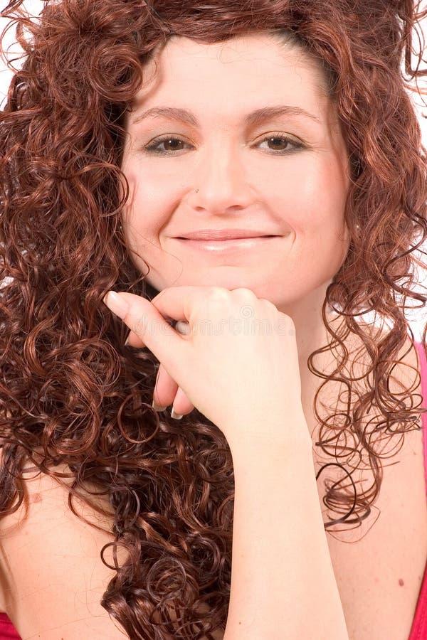 Bella donna con il sorriso bello fotografia stock libera da diritti