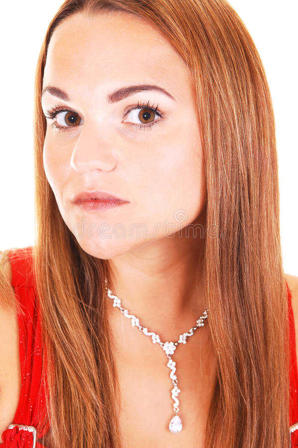 Bella donna con la collana. fotografie stock libere da diritti