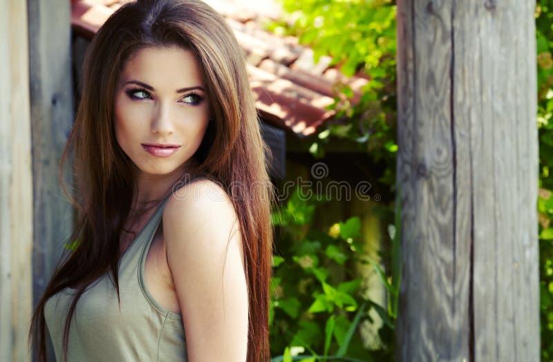 Bella donna del brunette fotografia stock libera da diritti
