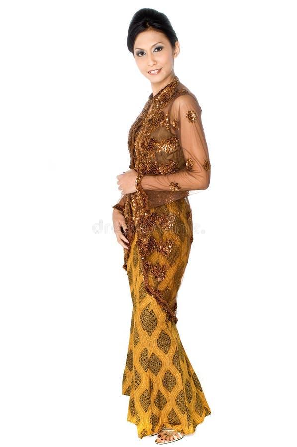 Bella donna del Malay immagine stock