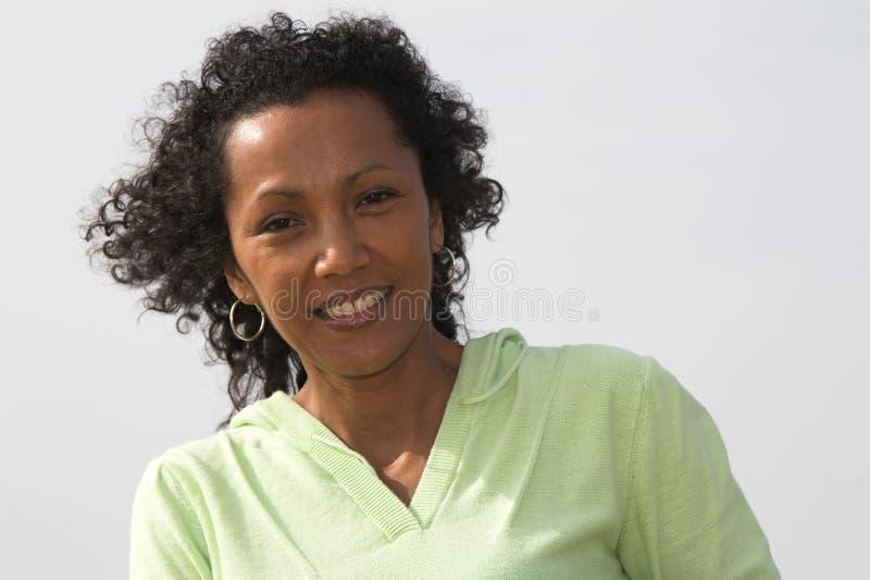 Bella donna di colore immagini stock