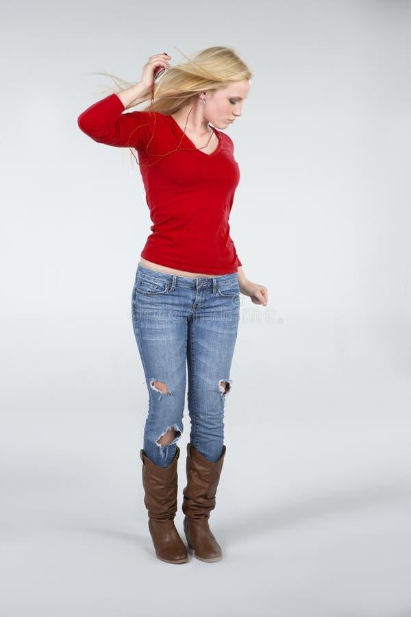 Bella donna di Dancing immagine stock libera da diritti