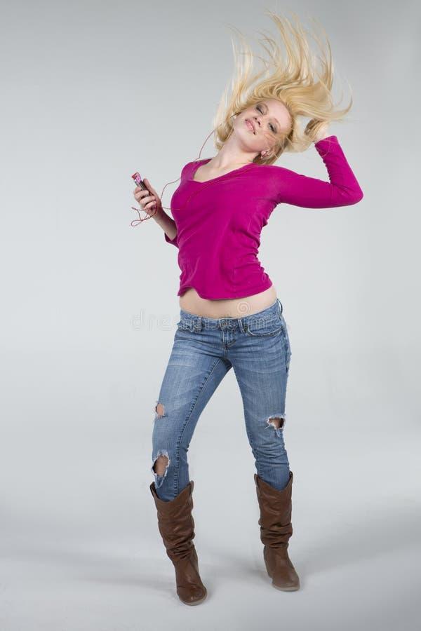 Bella donna di Dancing fotografia stock libera da diritti