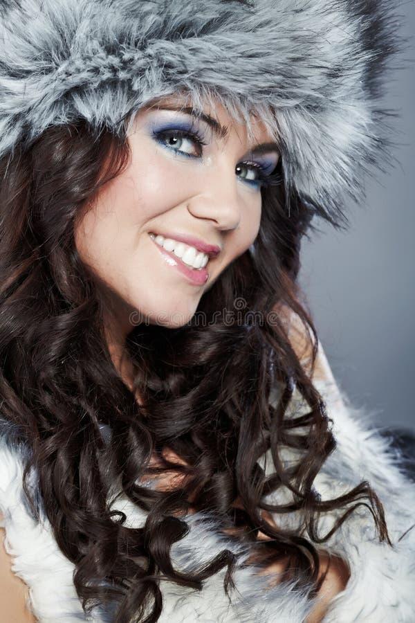 Bella donna di inverno fotografie stock libere da diritti