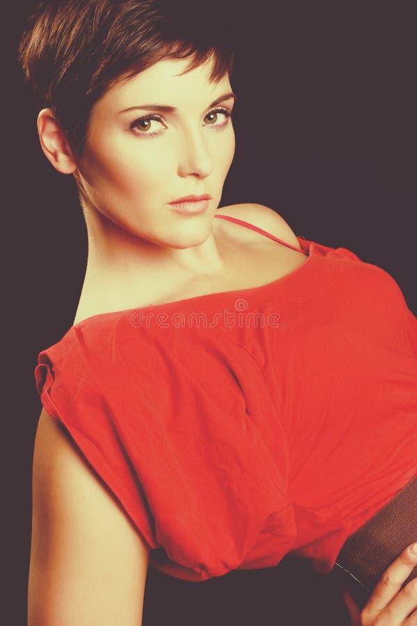 Bella donna di modo fotografia stock