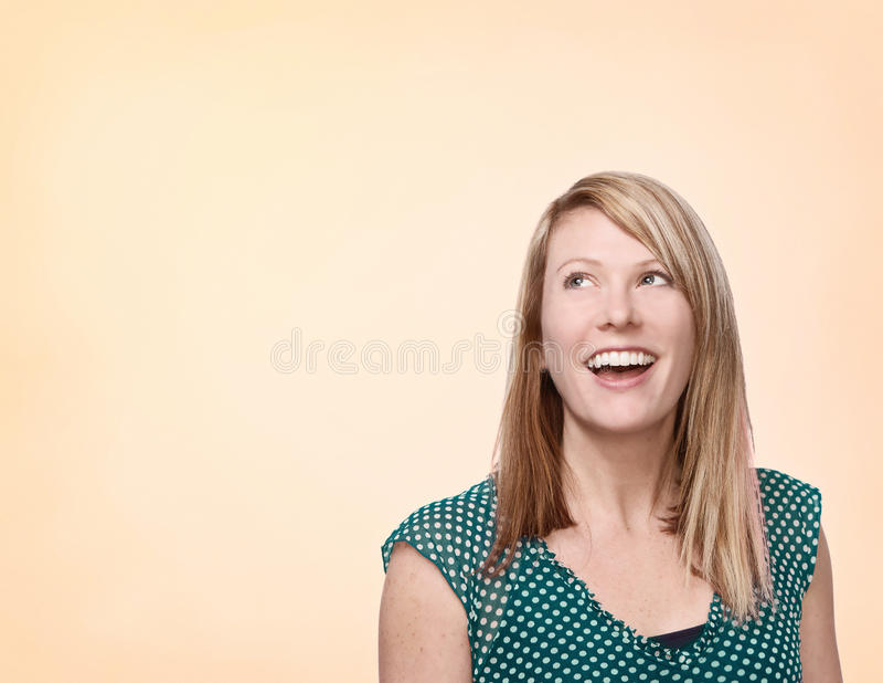 donna di risata immagine stock