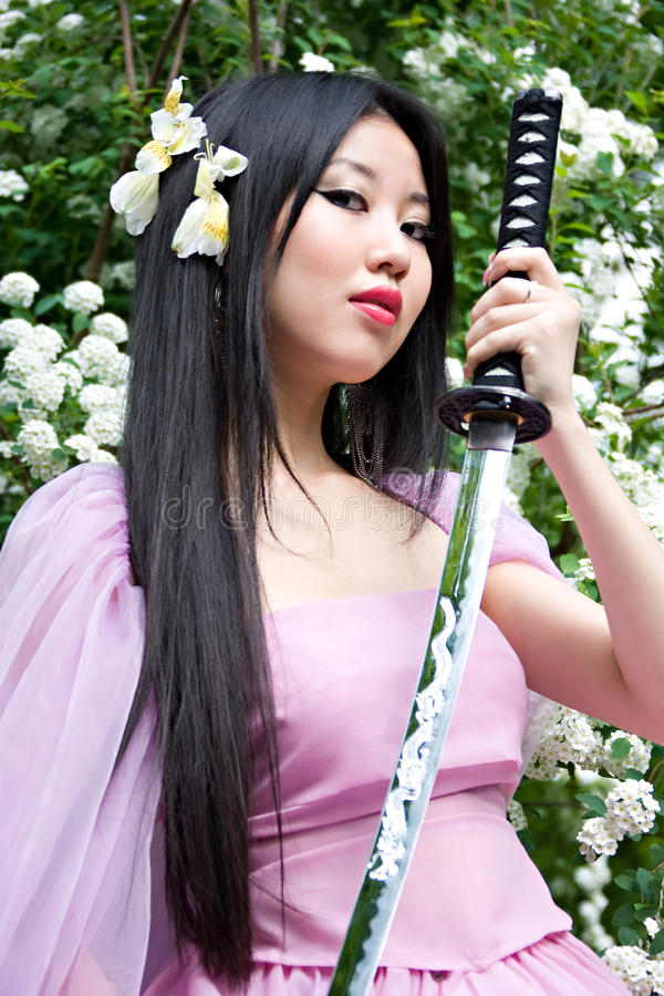 Bella donna giapponese immagine stock libera da diritti
