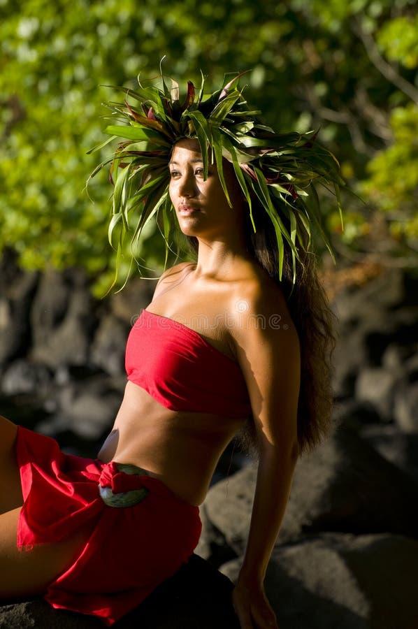 Bella donna hawaiana immagini stock libere da diritti