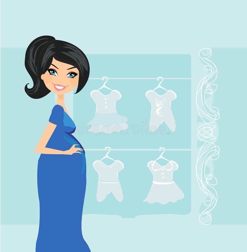 Bella donna incinta illustrazione di stock